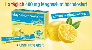 Magnesium Verla® 400 als Kapseln oder als Stick - jetzt beginnt wieder die Magnesium-Zeit!