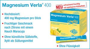 Unsere Magnesium Verla® 400 Kapseln bekommen Verstärkung!