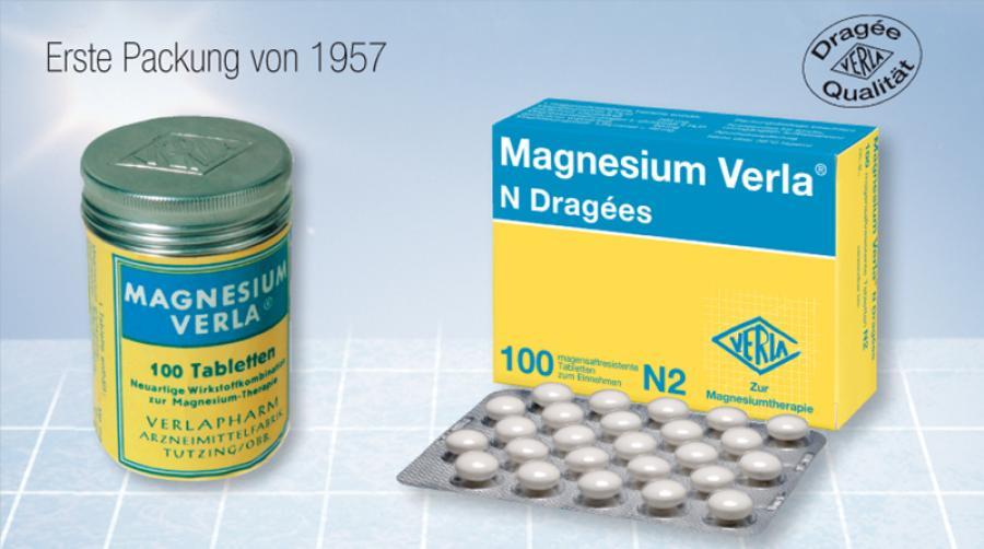 Magnesium Verla® – eine Marke wird 60 Jahre
