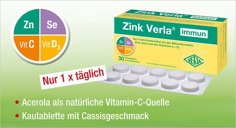 Zink Verla® immun - Immunsystem ist immer wichtig
